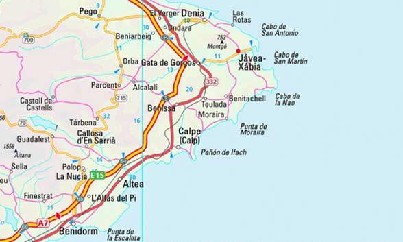 Javea Spain Map.Map Of Javea Spain